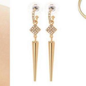 stella & dot bianca earrings in gold